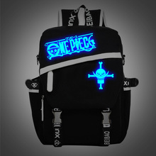 One piece Comic Animate Luminous Backpack for teenagers Naruto Character Logo women and mens school bags mochila