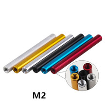 10 peças m2 coluna de alumínio m2 * 6/8/10/12/15/20/25 braçadeira redonda de alumínio para peças rc/30/35mm