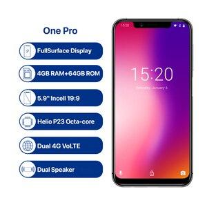 Image 2 - Umidigi One Pro смартфон с 5,9 дюймовым дисплеем, восьмиядерным процессором Helio P23, ОЗУ 4 Гб, ПЗУ 64 ГБ, Android 8,1