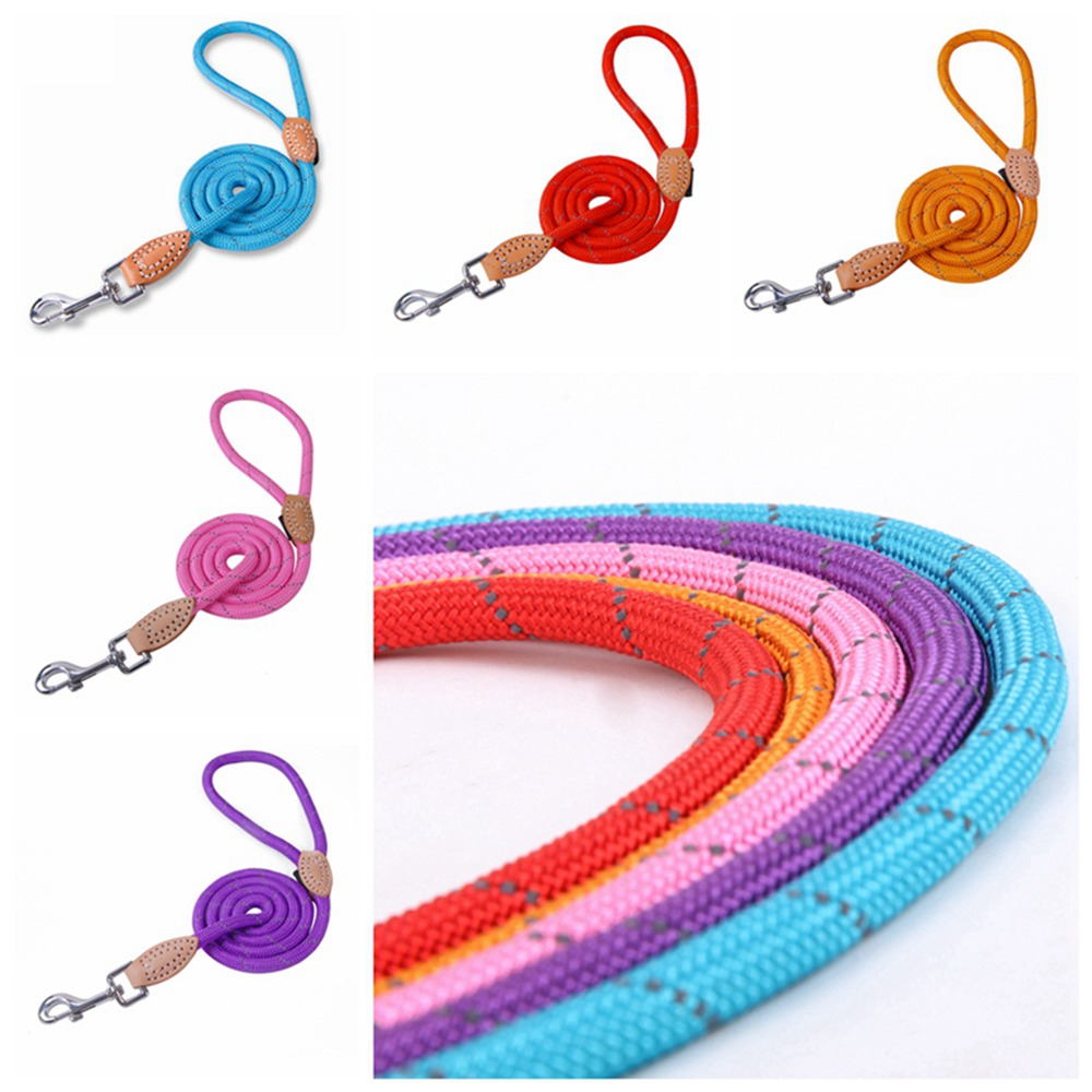 Pet Products Dog Leash Nylon Reflective Puppy Dog Leash Rope Cat Chihuahua Pet Leash And Collar Set Cat Dog Leashes Lead Harness (25)