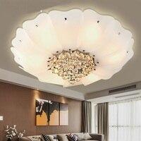 Lotus Хрустальные светильники потолочные элегантный Гостиная Спальня превосходное лобби домашнего освещения белый потолок лампы ZA FG417
