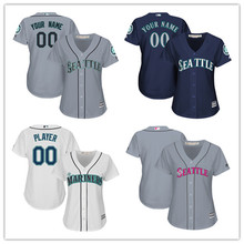 0c5c8c8ba MLB Custom Women s Seattle Mariners Mother s Day Cool Base Embroidery  Sewing Any Name Any Number Baseball