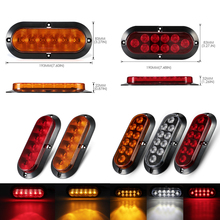 цены 2pcs 6 Led 10LED Waterproof Durable Car Truck Tail Light Warning Lights Rear Lamp for Trailer Caravans UTE Campers ATV Boats D45