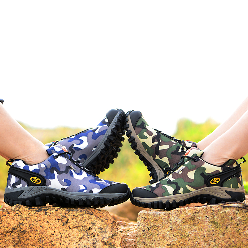 acdc5f5fee2d XIANG GUAN Womens Camouflage Hiking Shoes Army Green Camo Outdoor Boots  Pink Camo Trail Trekking Climbing Sneakers Lycra Oxford-in Hiking Shoes  from Sports ...