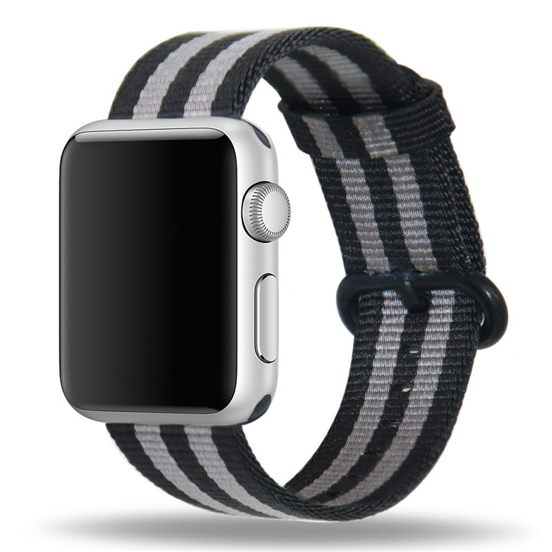 38mm Woven Nylon Band For Apple Watch 42mm Series1,2 Sport Edition Repleacement Strap For iWatch Stainless Steel Clasp Watchband