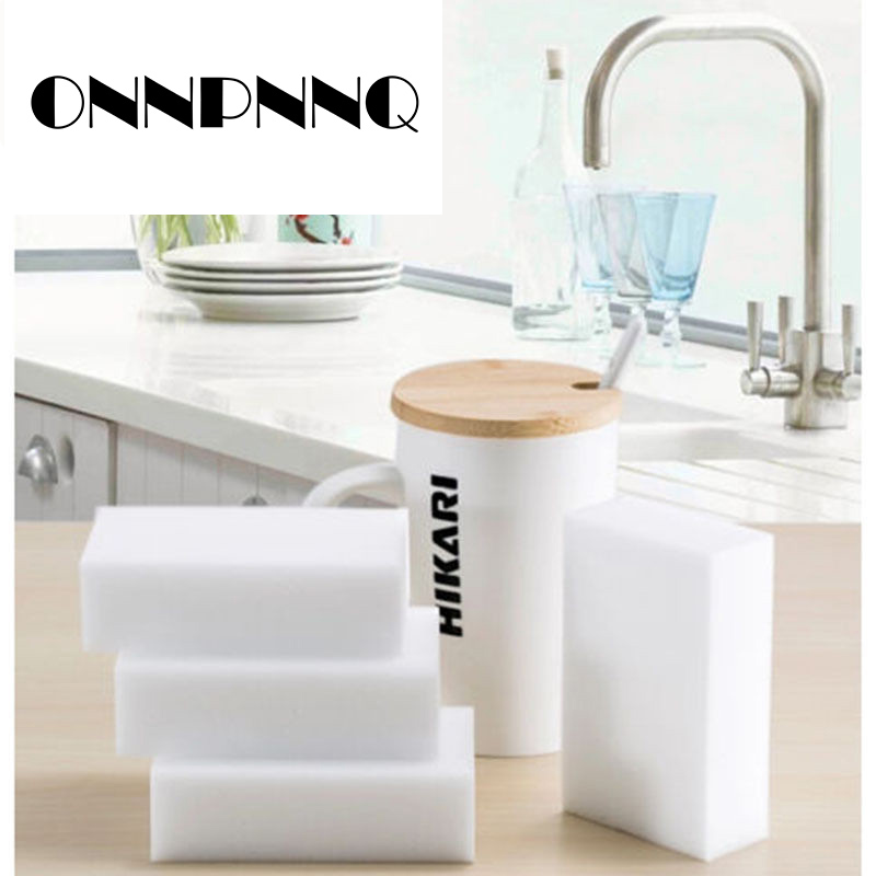 100Pcs Magic Sponge Erasers Melamine Sponge Multifunction Kitchen Cleaning Tools Nano Washing Bowl Sponge Car Cleaner