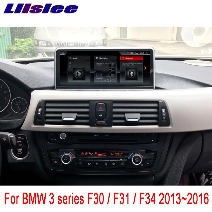 Liislee pour BMW série 3 F30/F31/F34 2013 ~ 2016 Android autoradio lecteur multimédia WIFI GPS Navigation guide de voiture