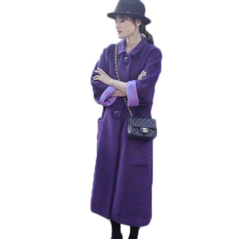 Popular Long Purple Coat-Buy Cheap Long Purple Coat lots from ...