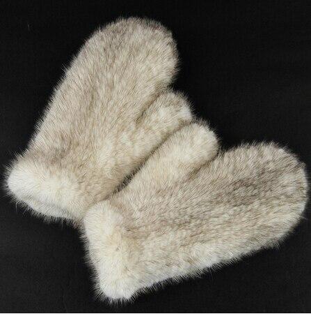 De femmes Réel Véritable Fourrure De Vison Tricoté Hiver Mitaines Gants Élastique Net Mitaines Arm Warmer 6 couleurs