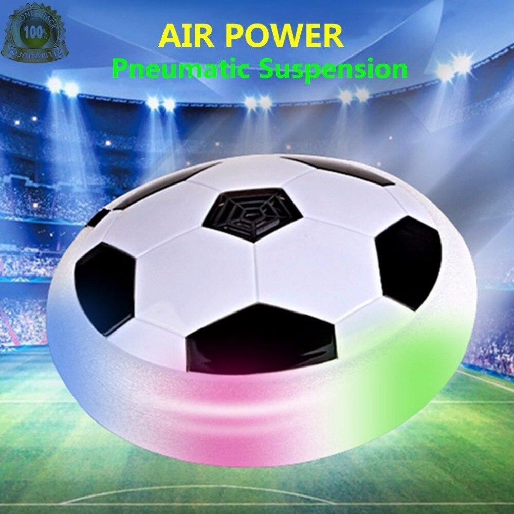 Fútbol Juguetes para niños flyball coloridas luces LED Air Power fútbol Bola de vuelo niños intermitente deportes juego Juguetes