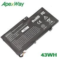 ApexWay 43WH NP03XL bateria para HP ENVY Pavilion X360 TPN Q146 TPN Q147 TPN Q148 TPN Q149 HSTNN LB6L 760944 421 HSTNN UB6L Baterias p/ laptop     -