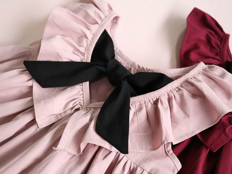 c7dcb7da33f ... Детские летние платья для девочек с открытой спиной Одежда с бантами  Нарядные Детские платья для девочки