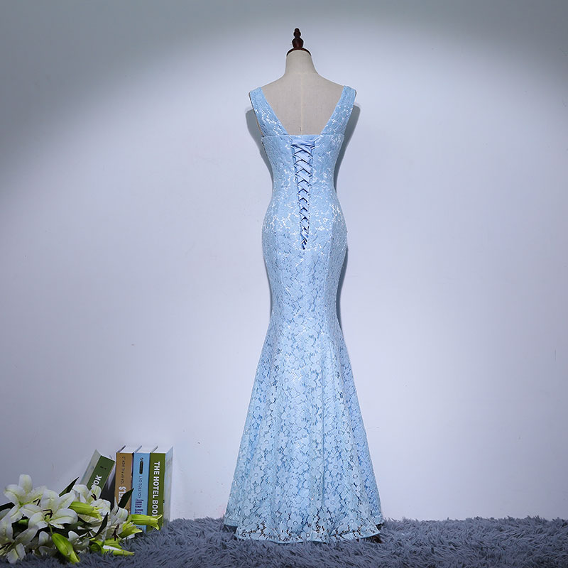 Lace Mama rochii de mireasa Beads Crystal Long Rochie femei Rochie de - Rochii de seară de nuntă - Fotografie 2