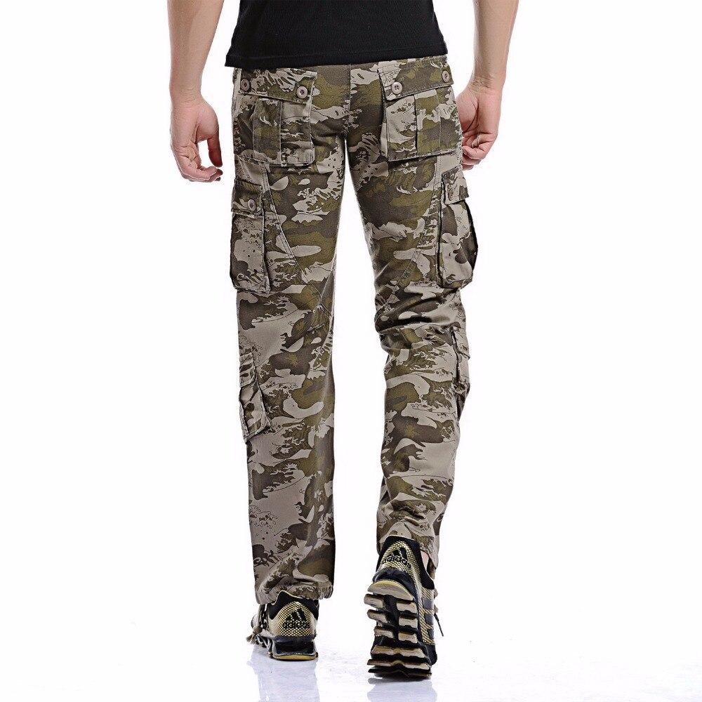 Autumn Men Army Pants 2019 Men's Camo Cargo Pants Casual Combat Military Trousers Male Multi-pockets Baggy Pant Sale Belt 125cm