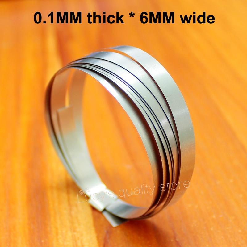 1M Battery Spot Welding Nickel Plated 18650 Steel Strip 0.1MM*6MM Wide