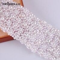 TOPQUEEN S20 Wedding Belt Pearls Belts for Girl Wedding sashes Pearls Bridal Belts Pearls Bridal Sashes