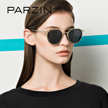 PARZIN Brand Alloy Frame Pilot Sunglasses Designer Aviator Polarized Glasses For Driving Coating Mirror Sun Glasses Accessories