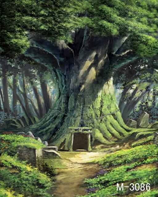 200 300cm fantasy forests sunlight alley wedding children