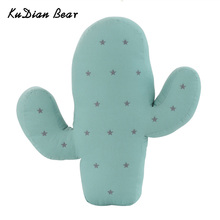 KUDIAN BEAR Plush Cactus And Flamingo Shape Toys Soft Stuffed Cushion Sofa  Pillow Baby Kids Gift