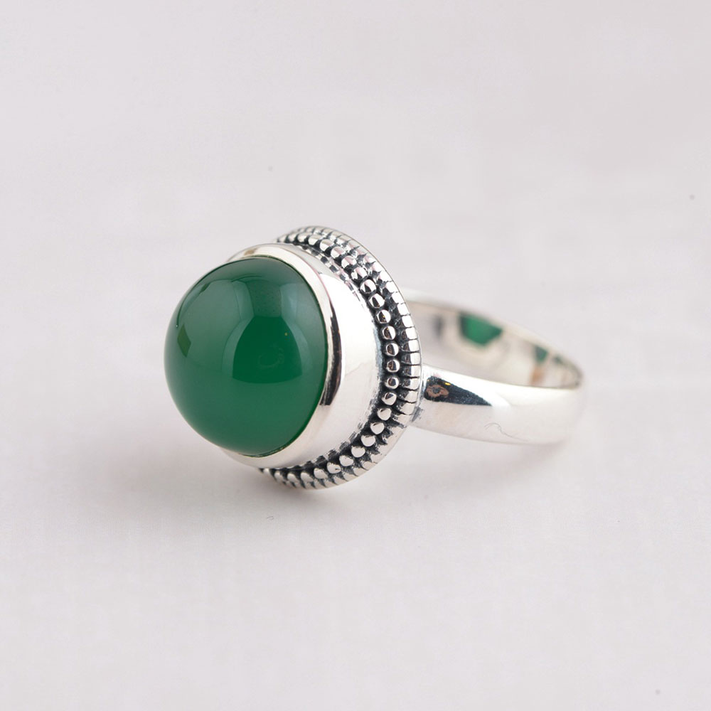 FNJ 925 Silver Ring Red Cubic Zircon Natural Green Stone Real S925 Sterling Thai Silver Rings for Women Jewelry USA Size 5.5-8 equte rssw28c1s7 elegant women s titanium steel zircon ring silver usa size 7