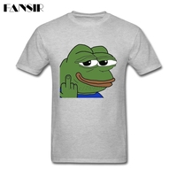 Bird Flipping Pepe Men Tshirt Screen Printing T Shirt Men S Custom Cotton Short Sleeve Over