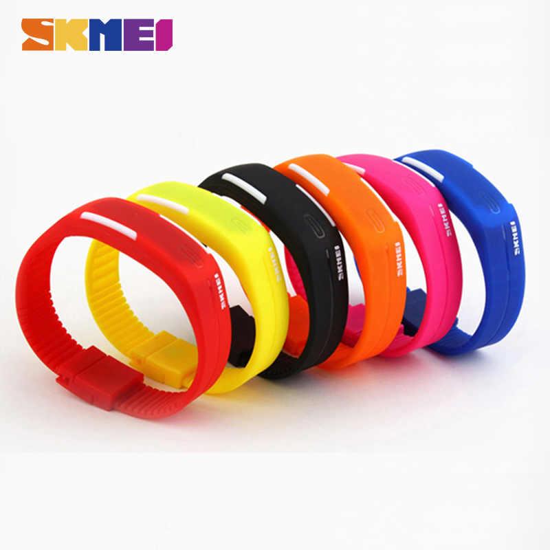 SKMEI 2018 hommes femmes numérique montre LED de sport décontracté Silicone montres étanche montre-Bracelet Bracelet Relogio Masculino horloge 1099