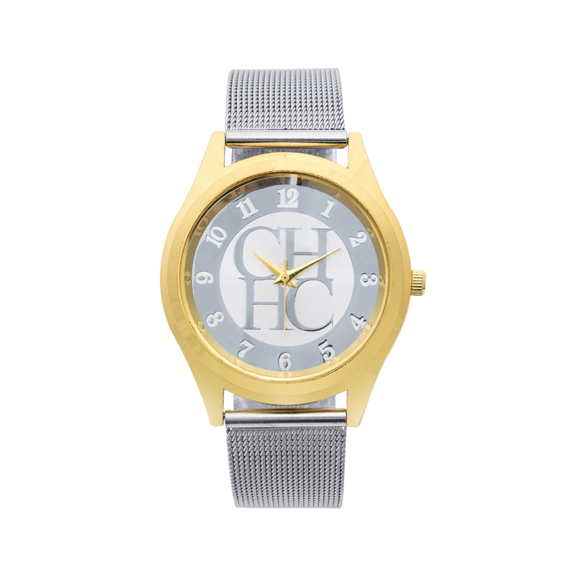 New fashion famous brand silver Ladies watch metal mesh stainless steel dress watches Casual quartz women