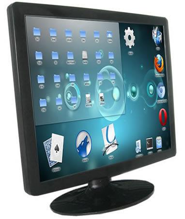 Nova área de trabalho toque monitor de 17 polegada 5-wire tela de toque monitor LCD