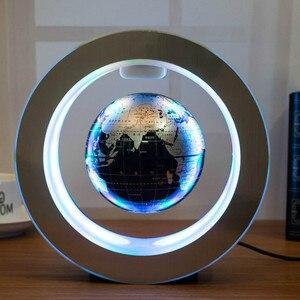 Image 4 - Novelty Round LED World Map Floating Globe Magnetic Levitation Light Antigravity Magic/Novel Lamp bola de plasma Dec plasma ball