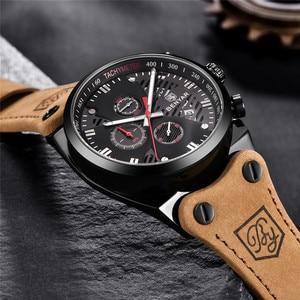 Image 3 - BENYAR New 30M Waterproof Outdoor Hollow Sports Chronograph Watch Skeleton Calendar Mens Quartz Wrist Watches Relogio Masculino