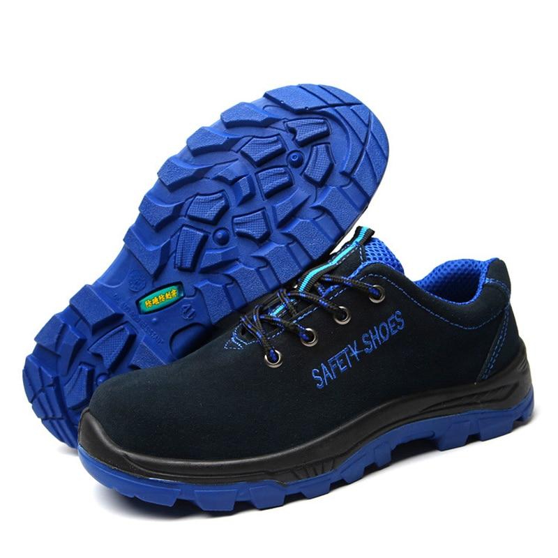En Respirant Preuve Ponction Solid Hommes Grande Sécurité breathable Travail Blue Taille Chaussures Du Blue Acier Bout De Bottes Maismoda D'assurance Casual Travaillent Chaud wYxOq7Oz