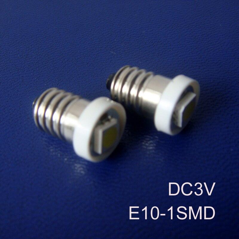 High quality DC3V E10 Led Instrument Light,E10 Led Bulb Lamp Light Led E10 Indicator Lamp Pilot Lamp free shipping 500pcs/lot