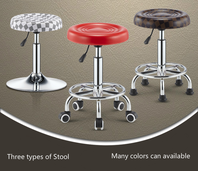 Lifting And Rotating Bar Chair Modern And Simple Five Claws Household Chair With Wheel And High Quality PU Stereotype Sponge
