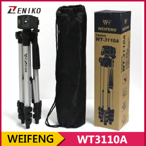 WEIFENG WT3110A Tripod With 3-Way HeadTripod for Nikon D7100 D90 D3100 D5200 DSLR Sony NEX-5N A7S Canon 650D 70D 600D WT-3110A