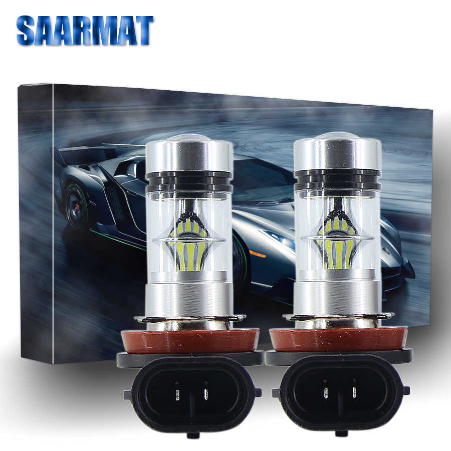 Pair H11 led H8 fog lights 9005 car 9006 day bulb for Jeep H16 fog lamp PY24W turn signal PSX24W  Driving Lamp H10 for VW P13W