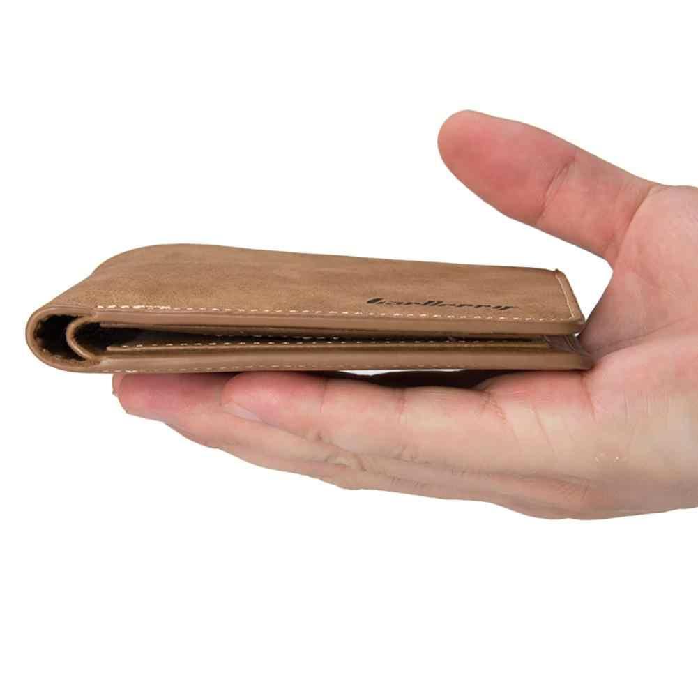 الرجال محافظ ريترو متجمد محفظة من البولي يوريثين اثنين للطي الذكور محفظة حامل بطاقة الائتمان بلون قصيرة الرجال عملة حقيبة مخلب عادية