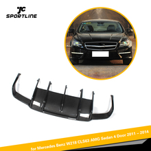 Углеродное волокно гоночный задний диффузор для губ бампер Gaurd для Benz W218 CLS350 CLS63 бампер AMG 2011
