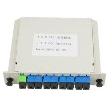1X8 De Fibra Óptica Ftth SC UPC hoja de Inserción Óptica Acoplador plc divisor óptico SC Monomodo simplex envío gratis