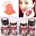 Suave Maquiagem Pressionado Rosto Natural Blush Em Pó Maquiagem rubor Blush Palette com Espelho Escova blush com espelho #61696