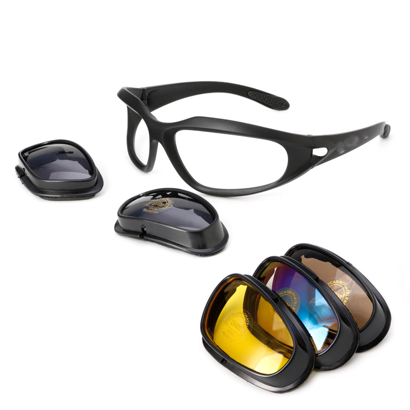 Free delivery Polarized Motorcycle Lens Sun Glasses Protective Goggles Sports Wr