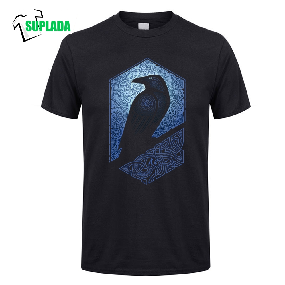 Guardian Viking Eagle High Quality Round Neck Cotton Wholesale T Shirt T-Shirts Man Tees Short Sleeves