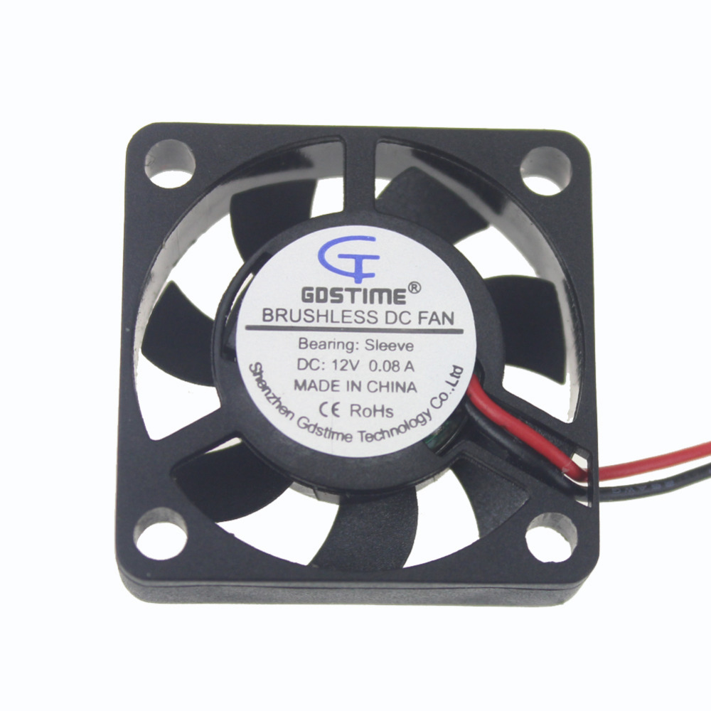 Gdstime 2 Pcs Mini 30mm x 7mm 3007 DC 12v 2.0-2Pin Brushless Cooler Cooling Fan 3cm PC Computer Fan 30x30mm gdstime 1 pcs cooling fan 40mm x 15mm 4cm 2 pin dc 4015 small brushless cooler fan 12v pc computer chip 40x40mm
