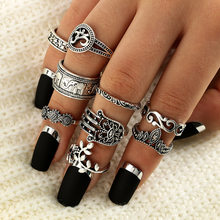 34 Style Dirty Secret Vintage Knuckle Rings for Women Boho Geometric Flower Crystal Ring Set Bohemian Finger Jewelry(China)