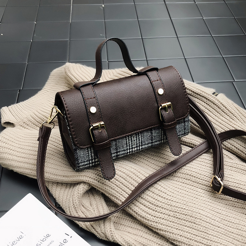 MAYFULL NEW FASHION pu leather shoulder bag women chic plaid cover hand bag lady girls leisure casual shoulder bags brand