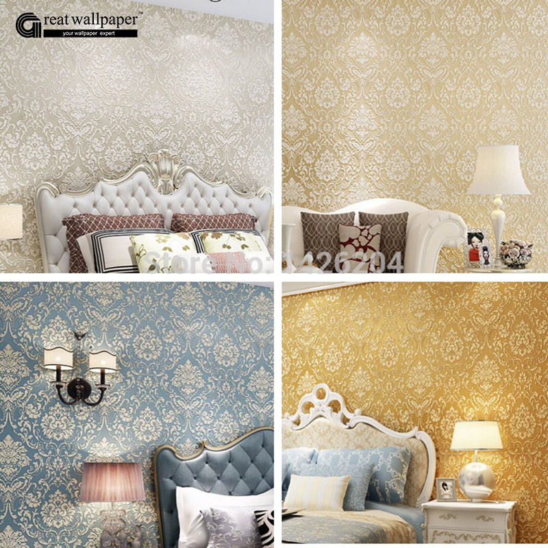 Rullo Per Carta Da Parati.New 3d Damasco Ispessito Di Lusso In Rilievo Wallpaper Rullo Per Pareti Soggiorno Carta Da Parati Sul Muro Papel De Parede Wallpaper Roll Wallpaper Roll For Wallluxury Embossed Wallpaper Aliexpress