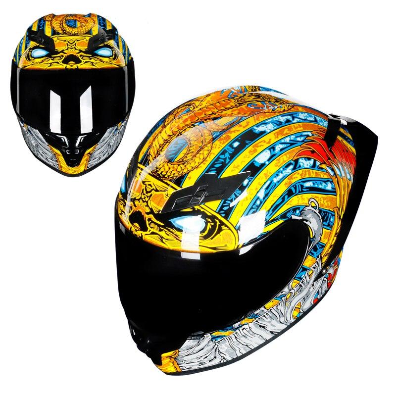 Faraone Stile Moto Casco Da Corsa Completa Viso Casco Capacete Casco Moto Kask Motociclo Motocross Serpente DOT Approvato