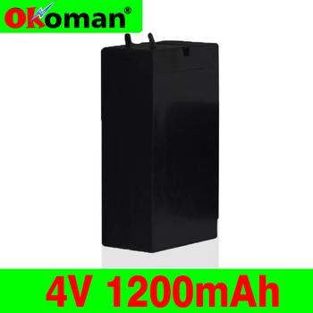 4V akumulator kwasowo-ołowiowy 1200mAh akumulator Mosquito Bat baterie lampa LED reflektory latarka akumulator o dużej pojemności tanie i dobre opinie 1200 mAh Baterie Tylko Pakiet 1 Okoman Lead acid 35 -22 -64 mm