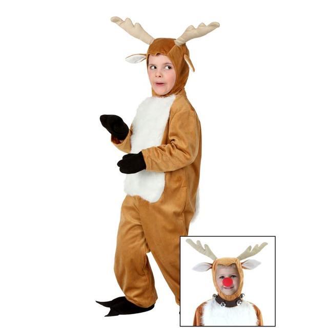 e513672b1 Toddler Deer Costume With Antlers Cute Deer White Brown Boys & Girls  Cosplay Clothing Christmas Animal