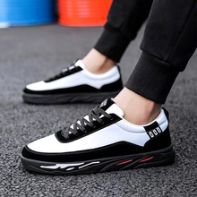 Men Color panda sneakers matching version of the trend black and white Lace handsome youth college sport shoes