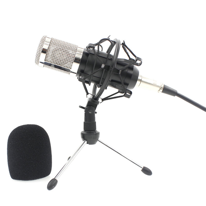 <font><b>BM800</b></font> <font><b>Mikrofon</b></font> Condenser Microphone Professional Audio Studio Recording Microphone For Radio Braodcasting Singing BM 800 image